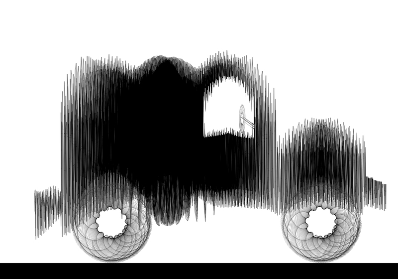 Line Drawing Car : Old car line drawing